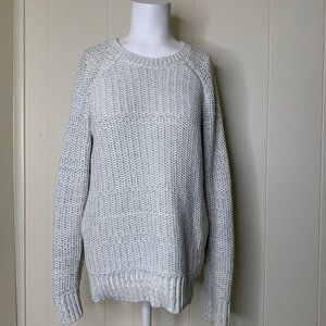 Vince Sweaters - Vince White & Gray Open Cable Knit Sweater Medium